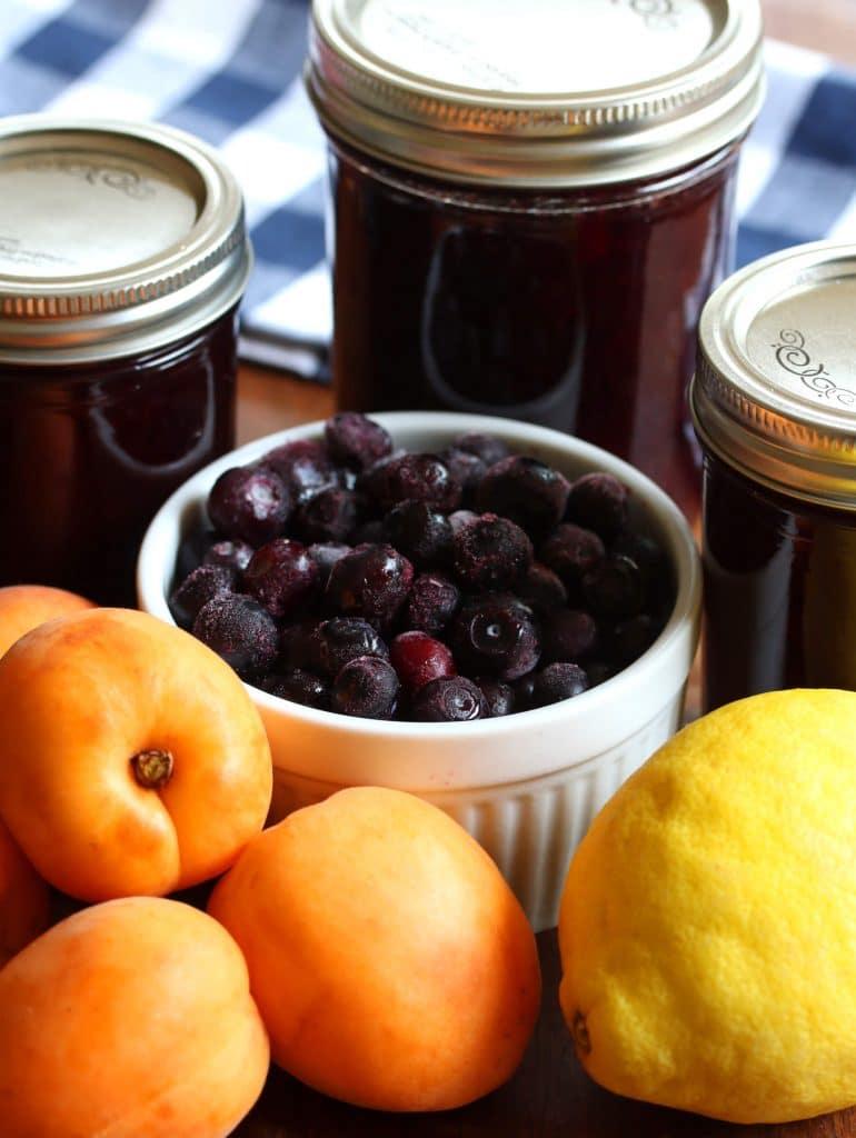 homemade blueberry lemon apricot jam recipe no pectin