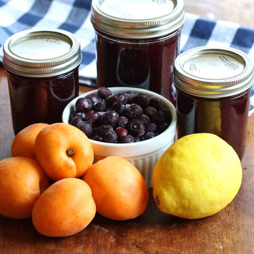 homemade blueberry lemon apricot jam recipe no pectin