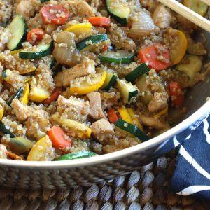 Chinese Chicken Fried Quinoa