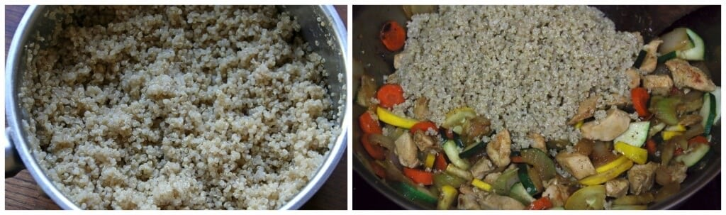 chinese chicken fried quinoa stir fry healthy recipe