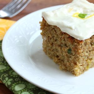 Lemon Lime Zucchini Cake with Lemon Lime Cream Cheese Frosting