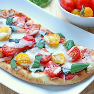 10-Minute Margherita Flatbread Pizzas