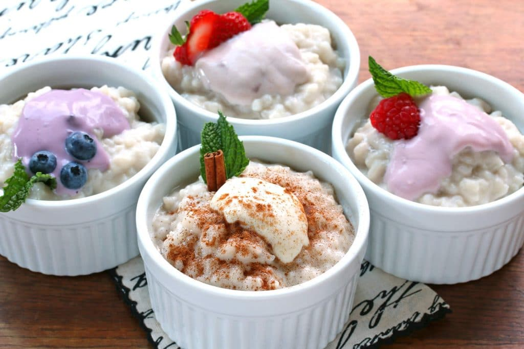 creamy rice pudding dairy free recipe yogurt gluten free vegan