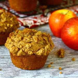 Double Apple Crisp Streusel Muffins