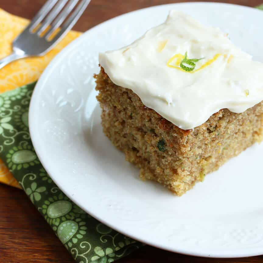 Lemon Lime Zucchini Cake with Lemon Lime Cream Cheese Frosting - The ...
