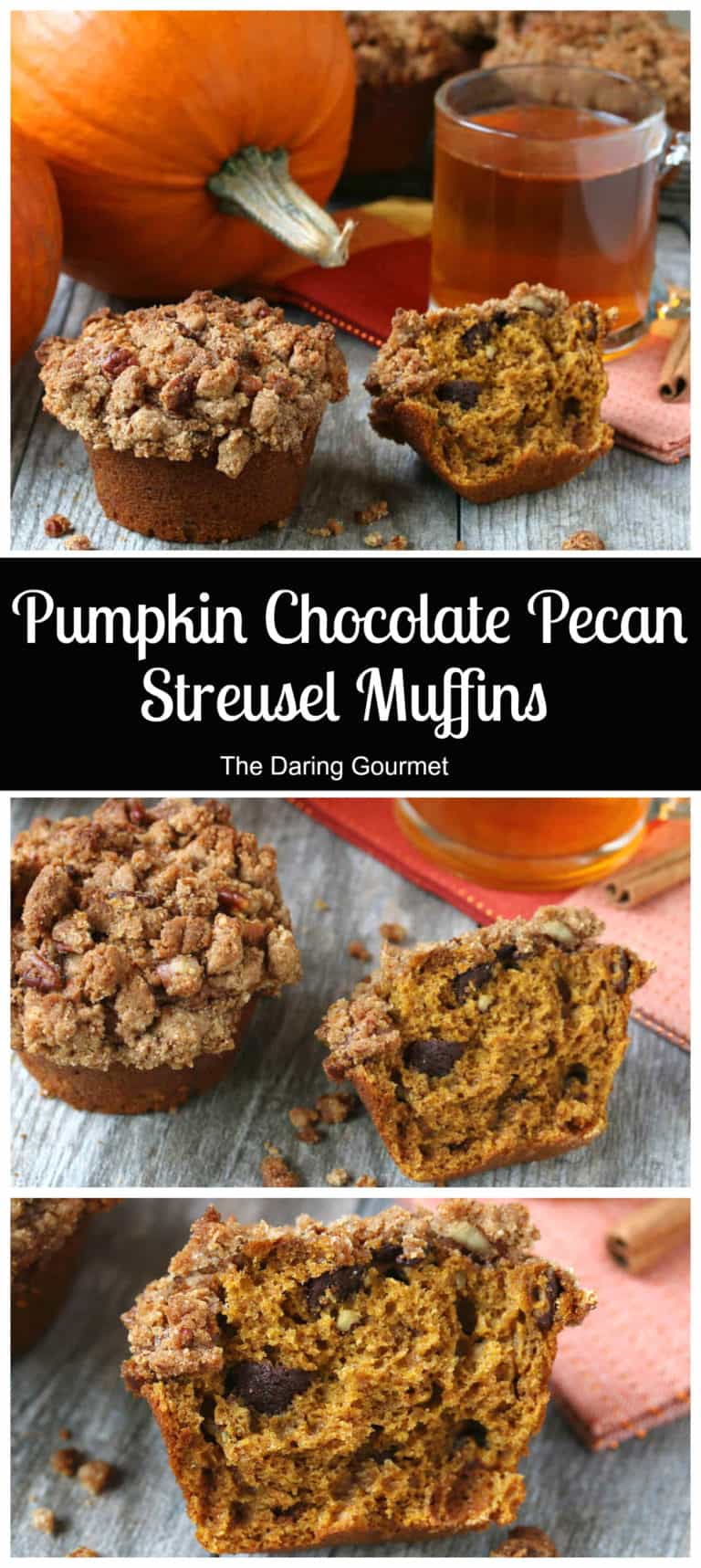 pumpkin streusel muffins recipe whole wheat grain chocolate pecan