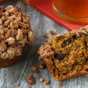 Pumpkin Chocolate Pecan Muffins