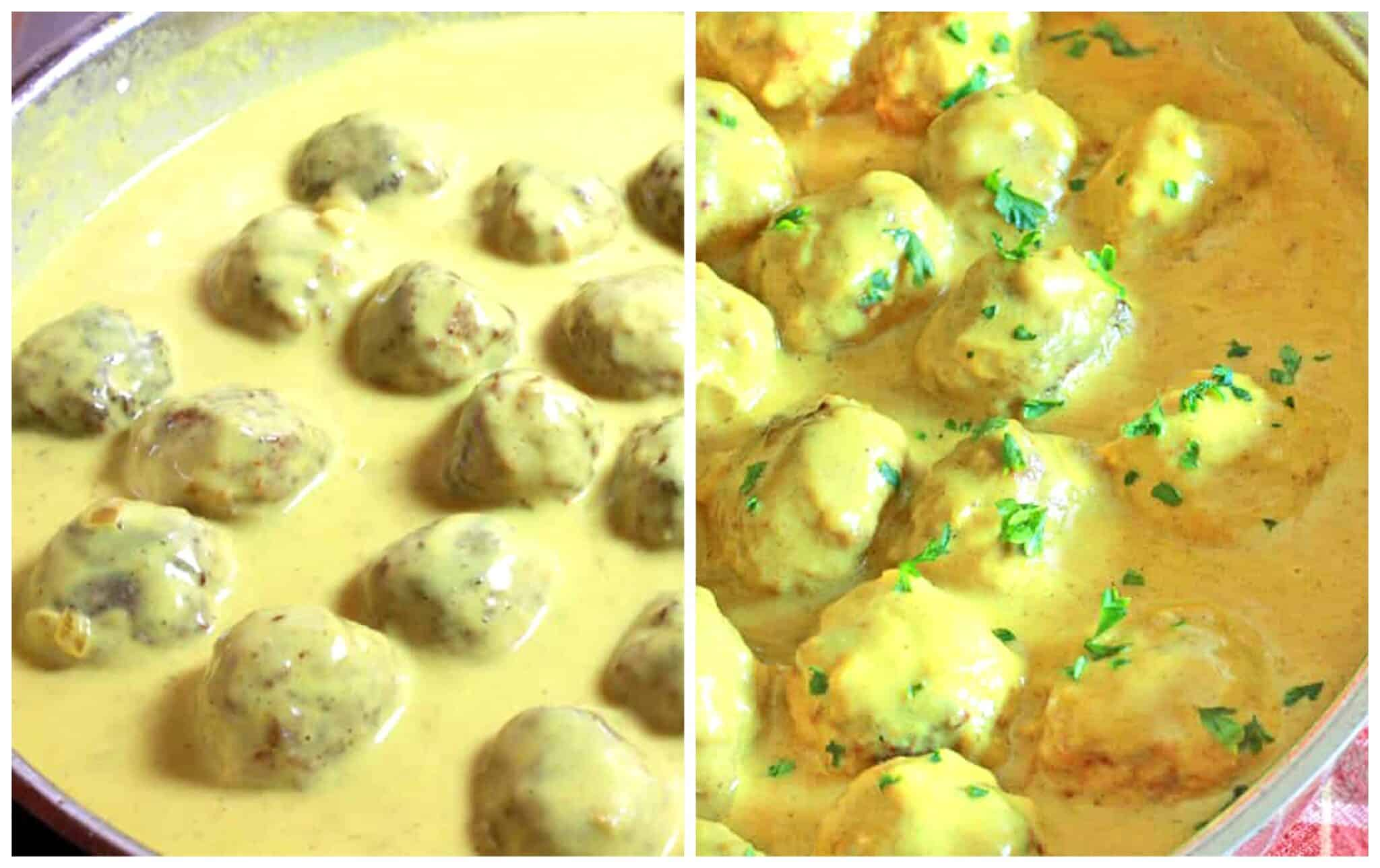 simmer the meatballs