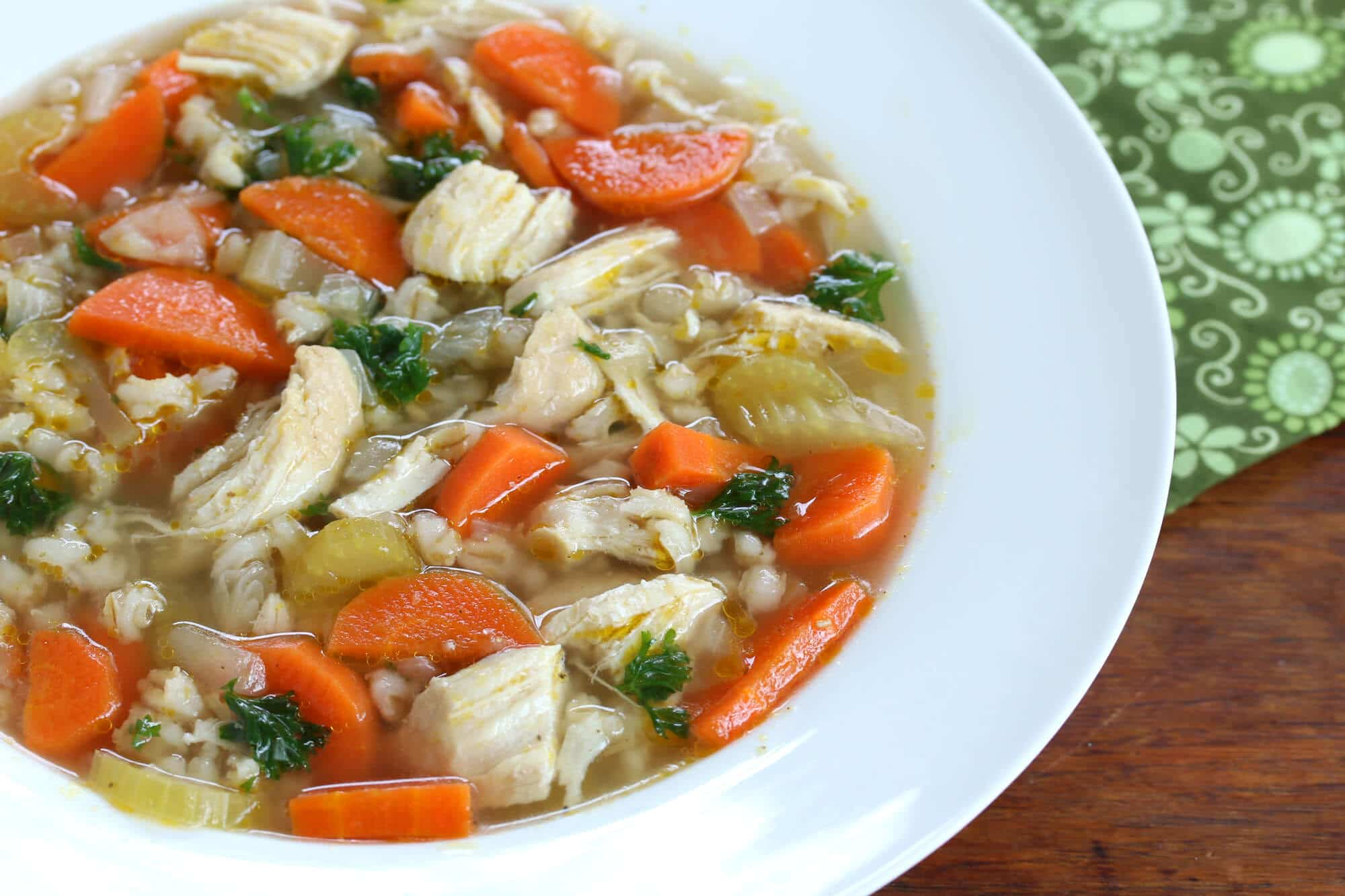 chicken barley soup recipe