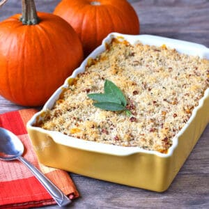 pumpkin mac and cheese recipe cheddar gorgonzola blue cheese sage pecans whole grain