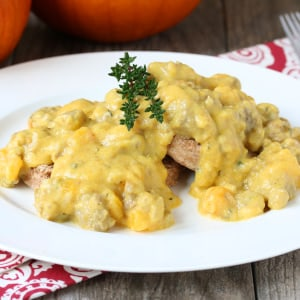 Pumpkin Sausage Gravy and Biscuits