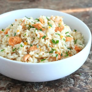 Salmon Risotto with Preserved Lemon