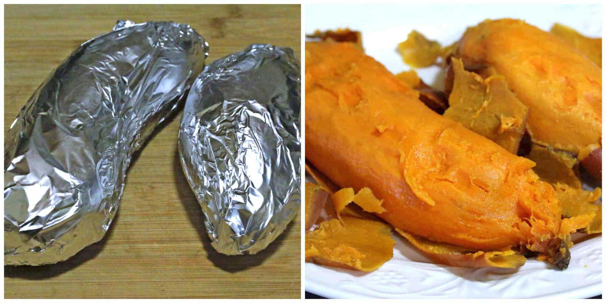 baking sweet potatoes in foil