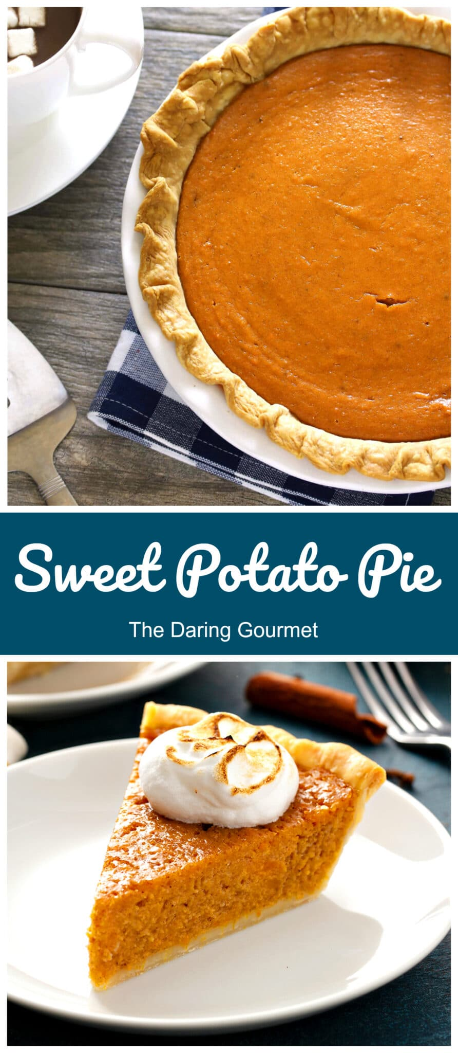 sweet potato pie recipe sour cream old fashioned traditional southern from scratch easy