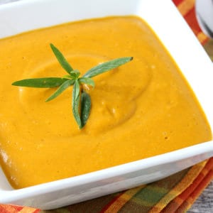 Curried Roasted Sweet Potato Soup with Tarragon