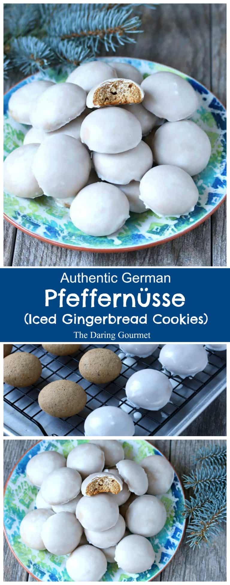 pfeffernusse recipe traditional authentic German iced gingerbread cookies pfeffernüsse rezept