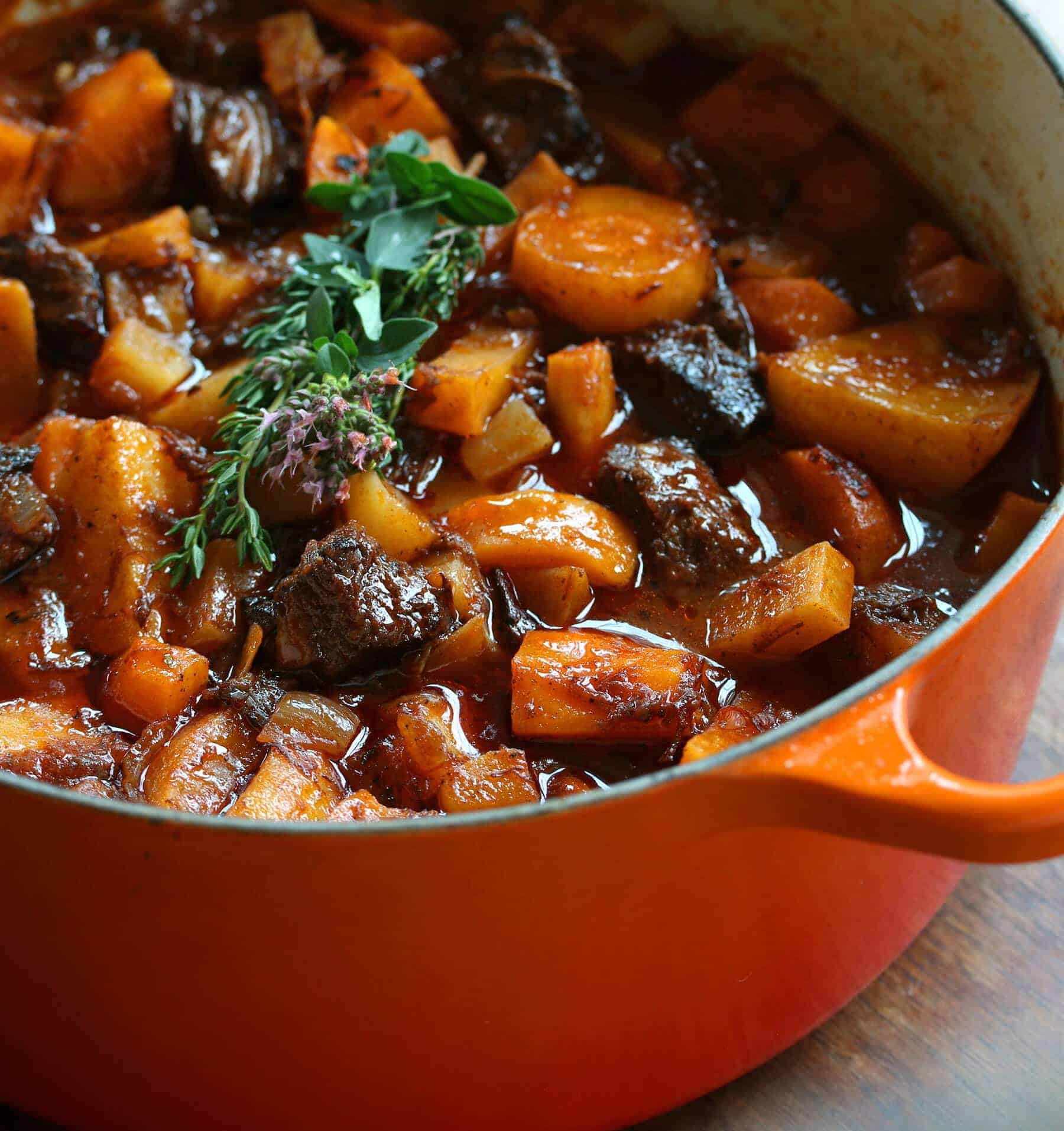 French Beef Stew With Old Fashioned Vegetables The Daring Gourmet