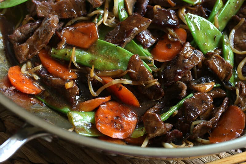chinese beef stir fry snow peas mushrooms recipe