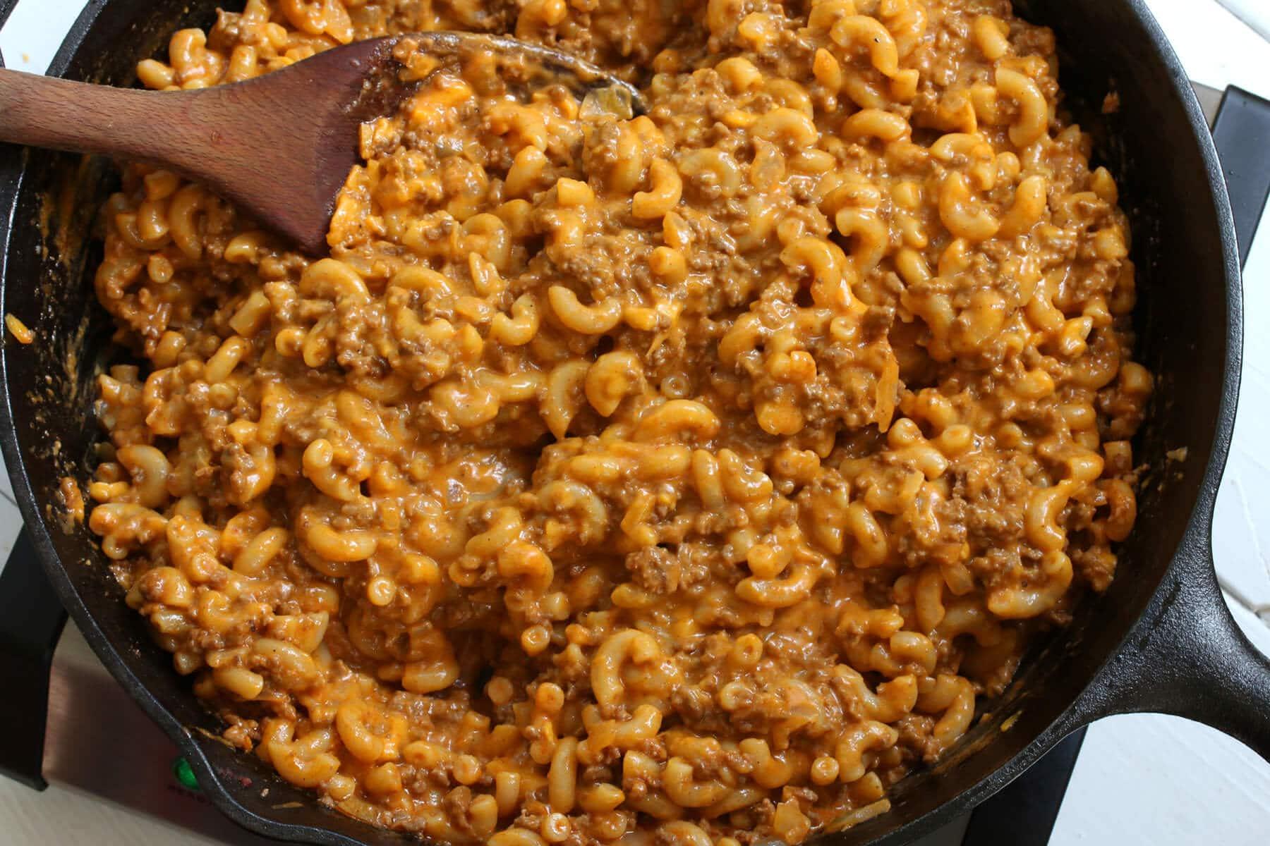 homemade cheeseburger macaroni hamburger helper copycat recipe