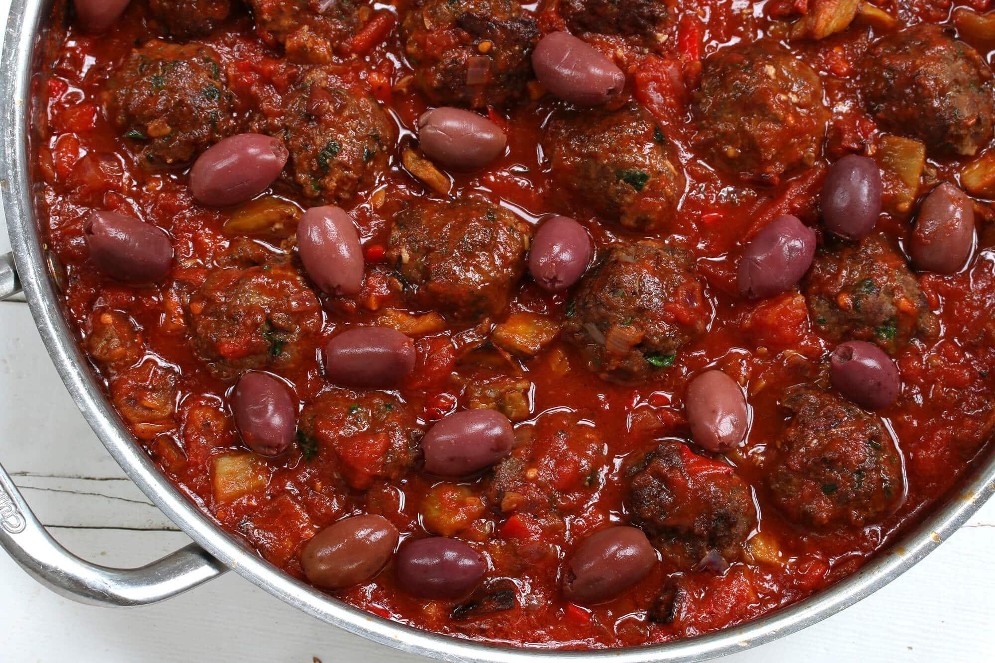 greek meatballs recipe beef chicken pork lamb turkey olives eggplant ...
