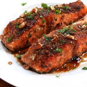 pecan salmon bacon crusted recipe