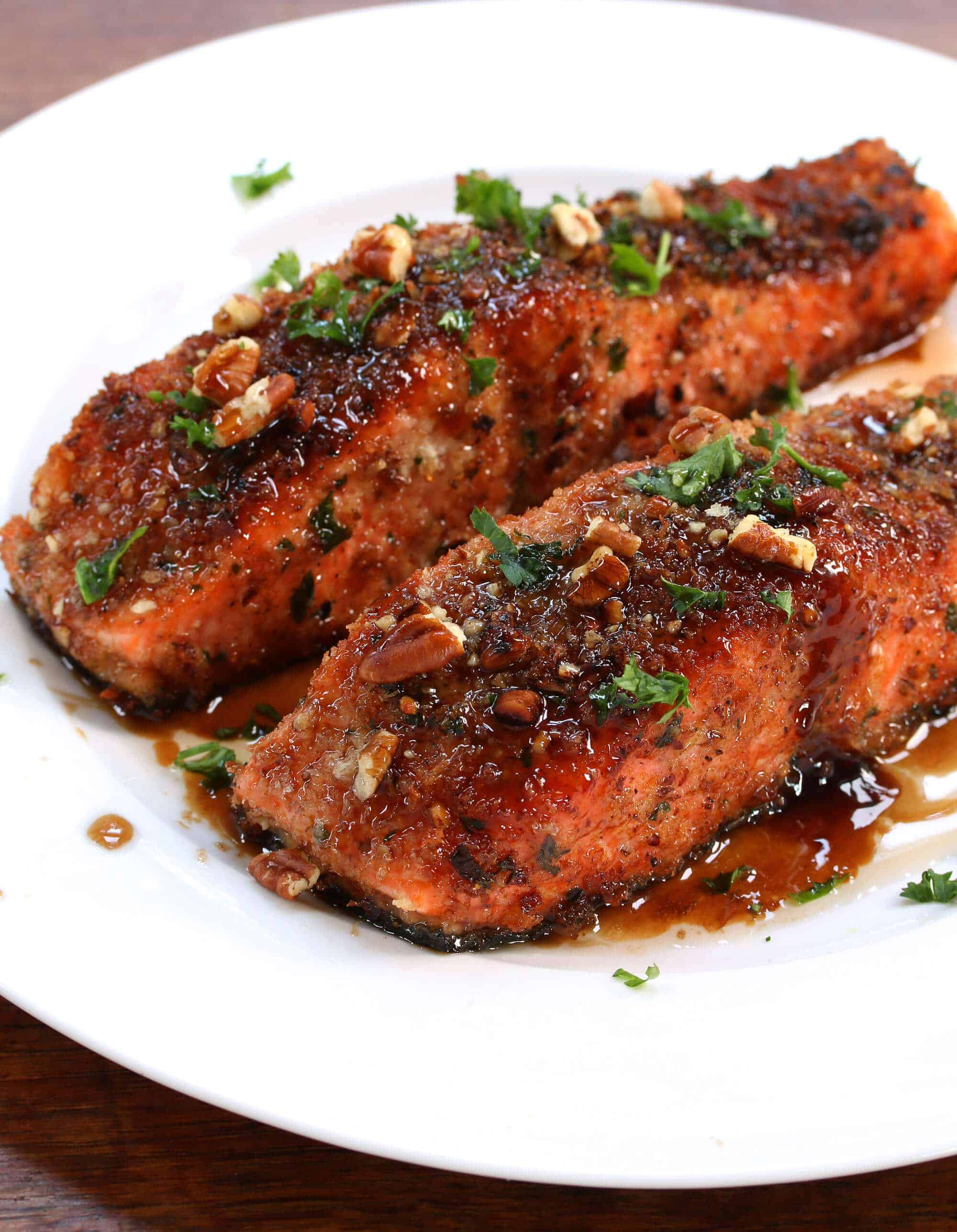 pecan crusted baked salmon