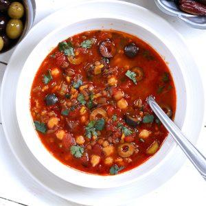 harira recipe authentic moroccan soup chickpea lentil