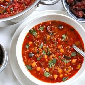 Ultimate Harira (Moroccan Chickpea & Lentil Soup)