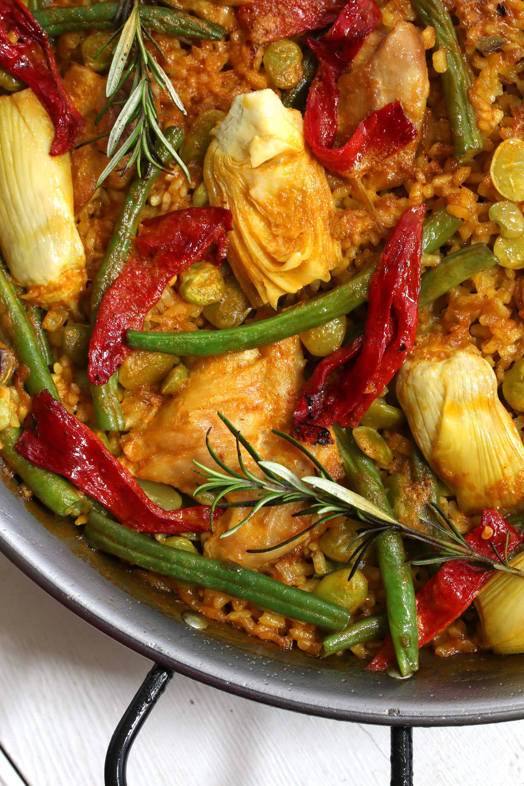 how to make spanish paella valenciana recipe