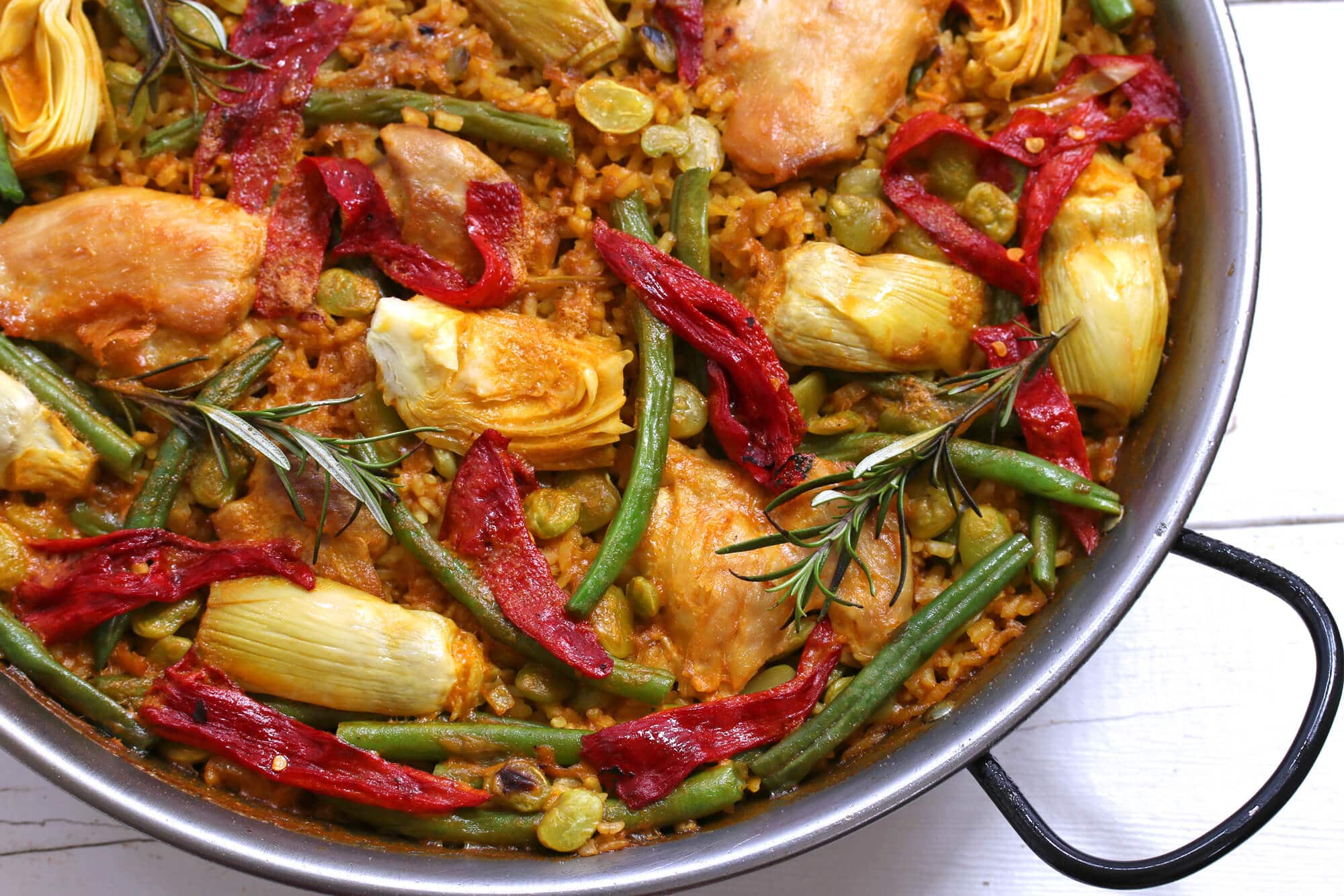 Easy recipe for paella valenciana