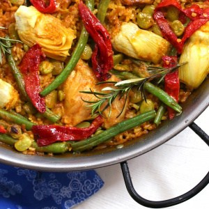 paella recipe valencian chicken authentic Spanish