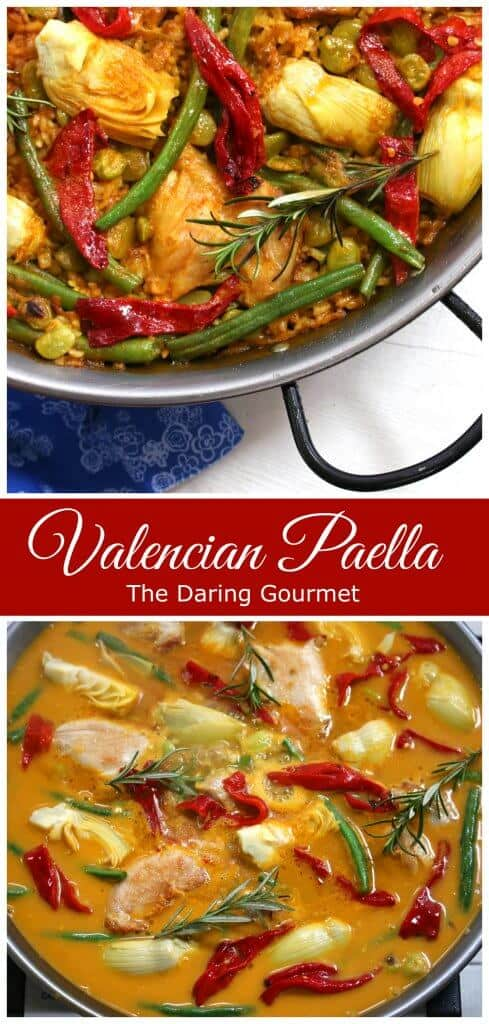paella valencian recipe authentic traditional Spanish
