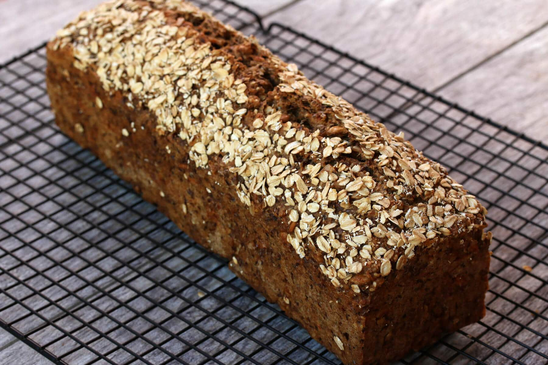german brown bread recipe farmer authentic traditional vollkornbrot einkornbrot einkorn whole wheat grain sourdough beer nuts seeds