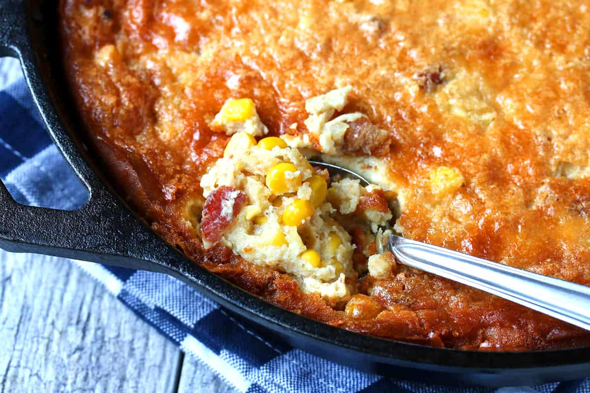 corn pudding recipe best skillet old fashioned classic bacon