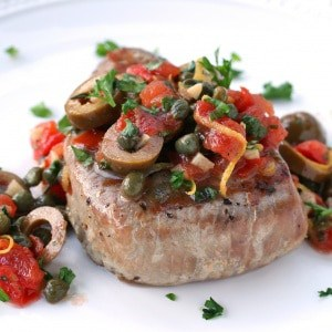 Sicilian-style Grilled Tuna Steaks