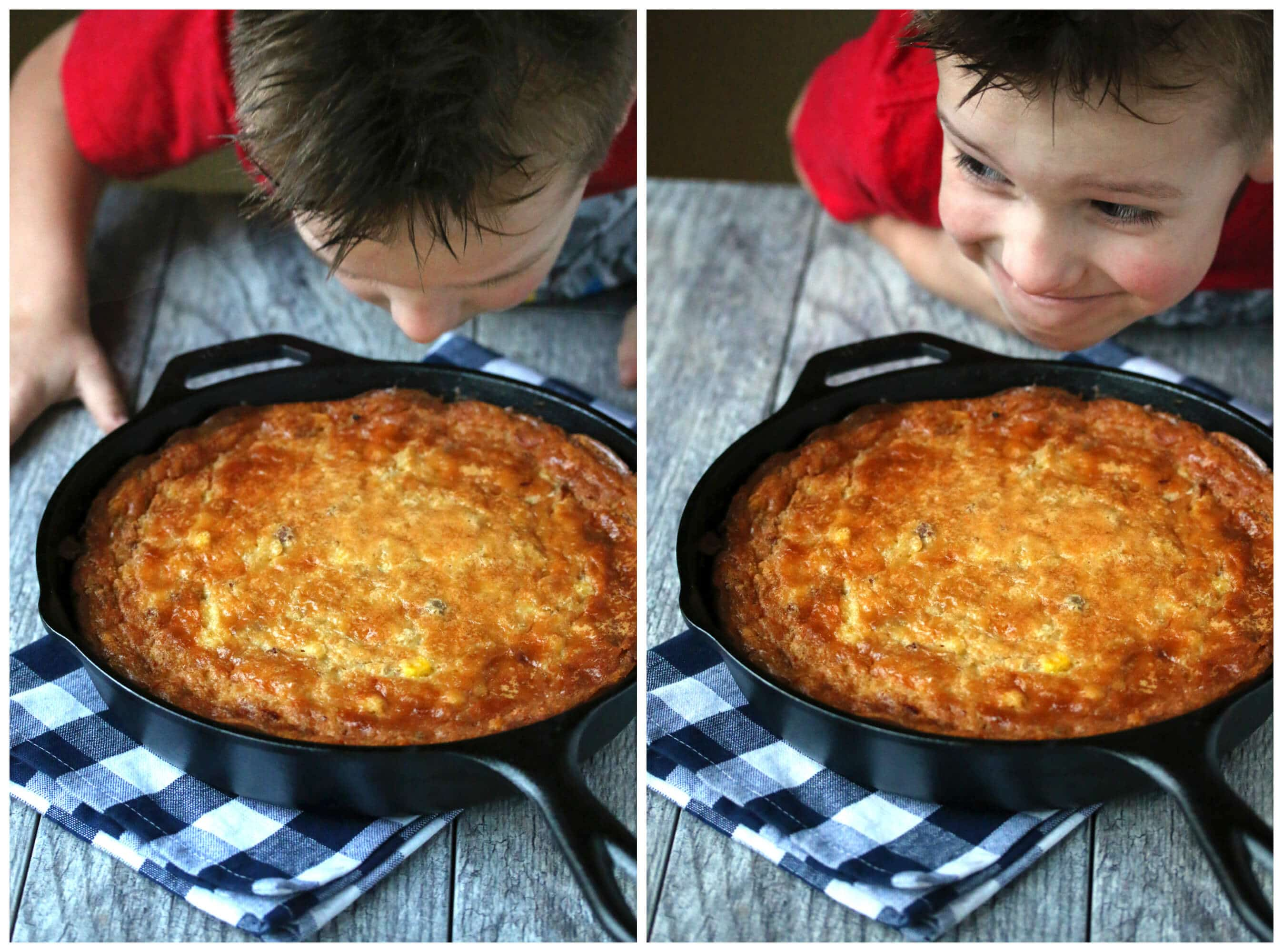 Skillet Corn Pudding Collage 1