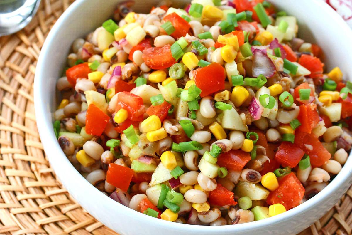 black eyed pea salad recipe southern corn tomatoes