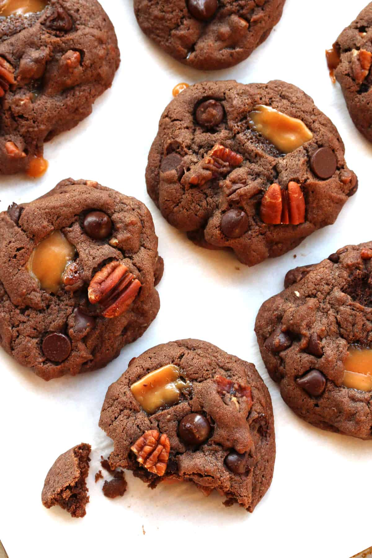 mexican turtle cookies recipe chocolate caramel pecan nuts