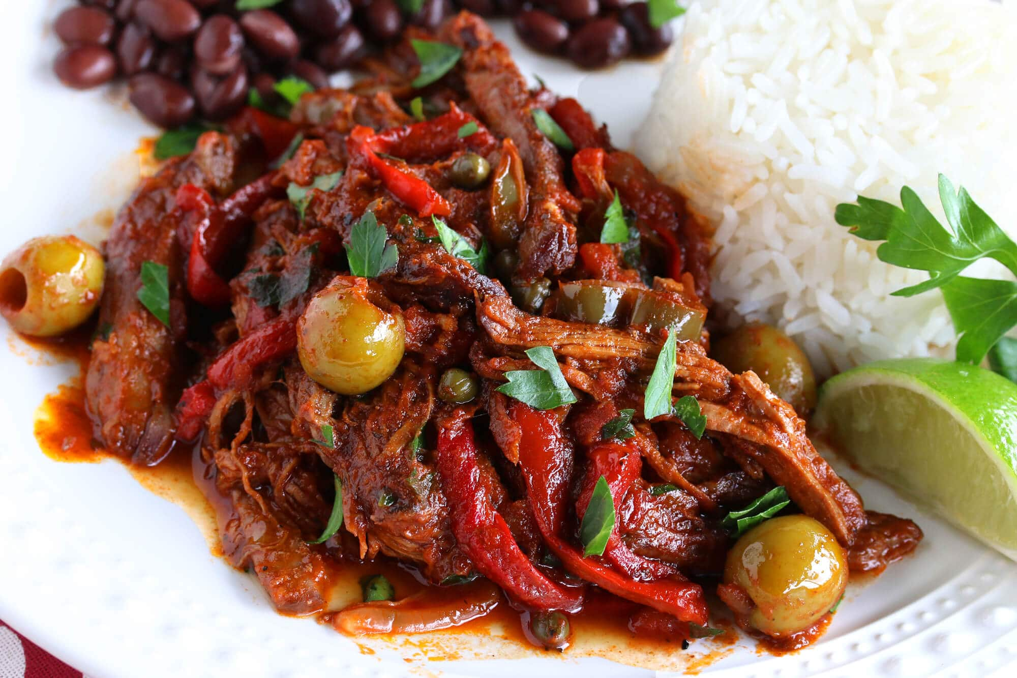 cuban ropa vieja recipe authentic traditional best beef peppers olives spanish