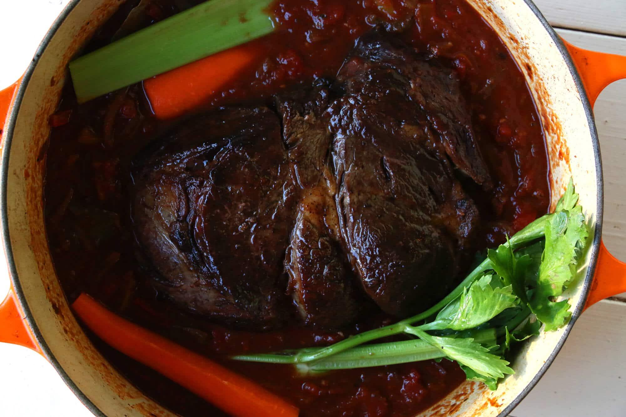 browned chuck roast stew