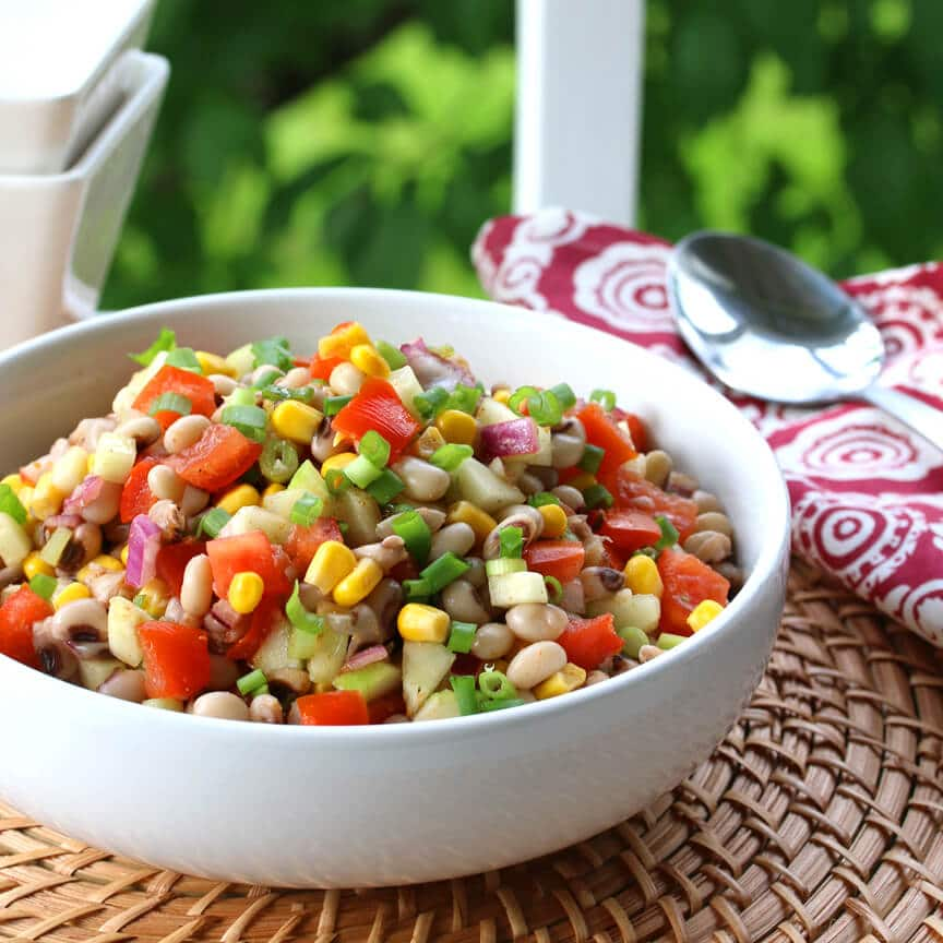Southern Black-eyed Pea Salad (or Salsa) - The Daring Gourmet