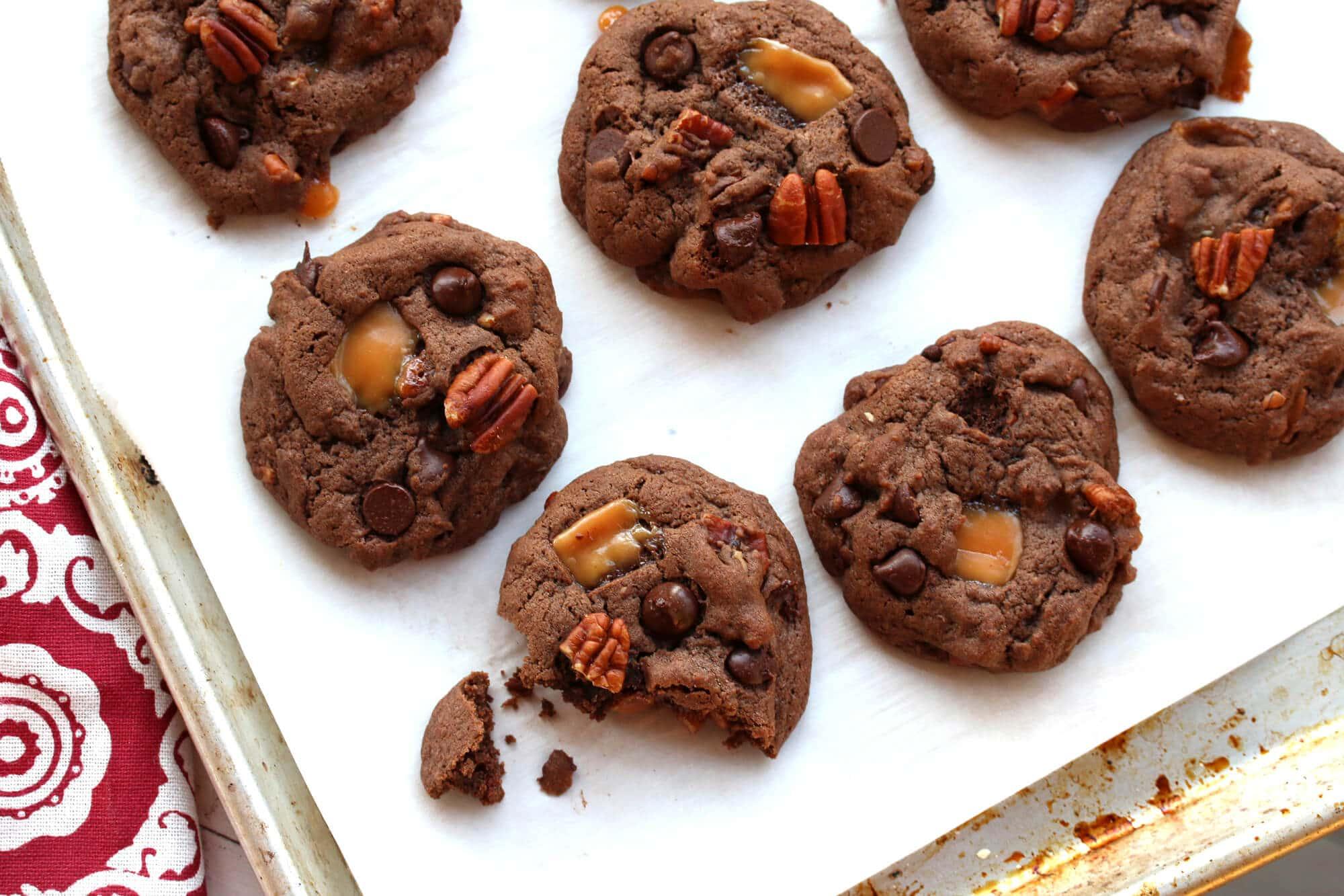 Caramel Pecan Turtle Cookies Recipe — Dishmaps
