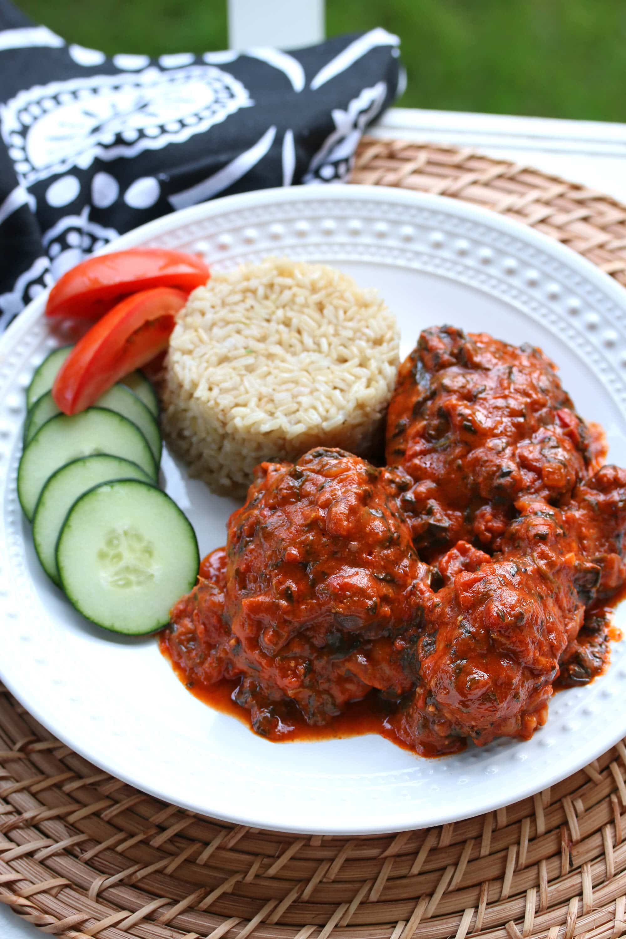 West African Plasas (Chicken in Peanut, Spinach & Tomato Sauce) - The ...