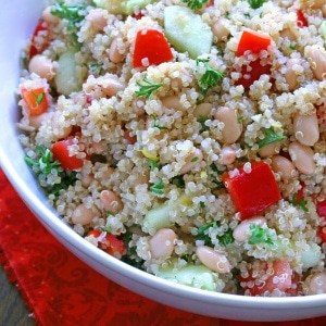 Lemon Quinoa & Bean Salad