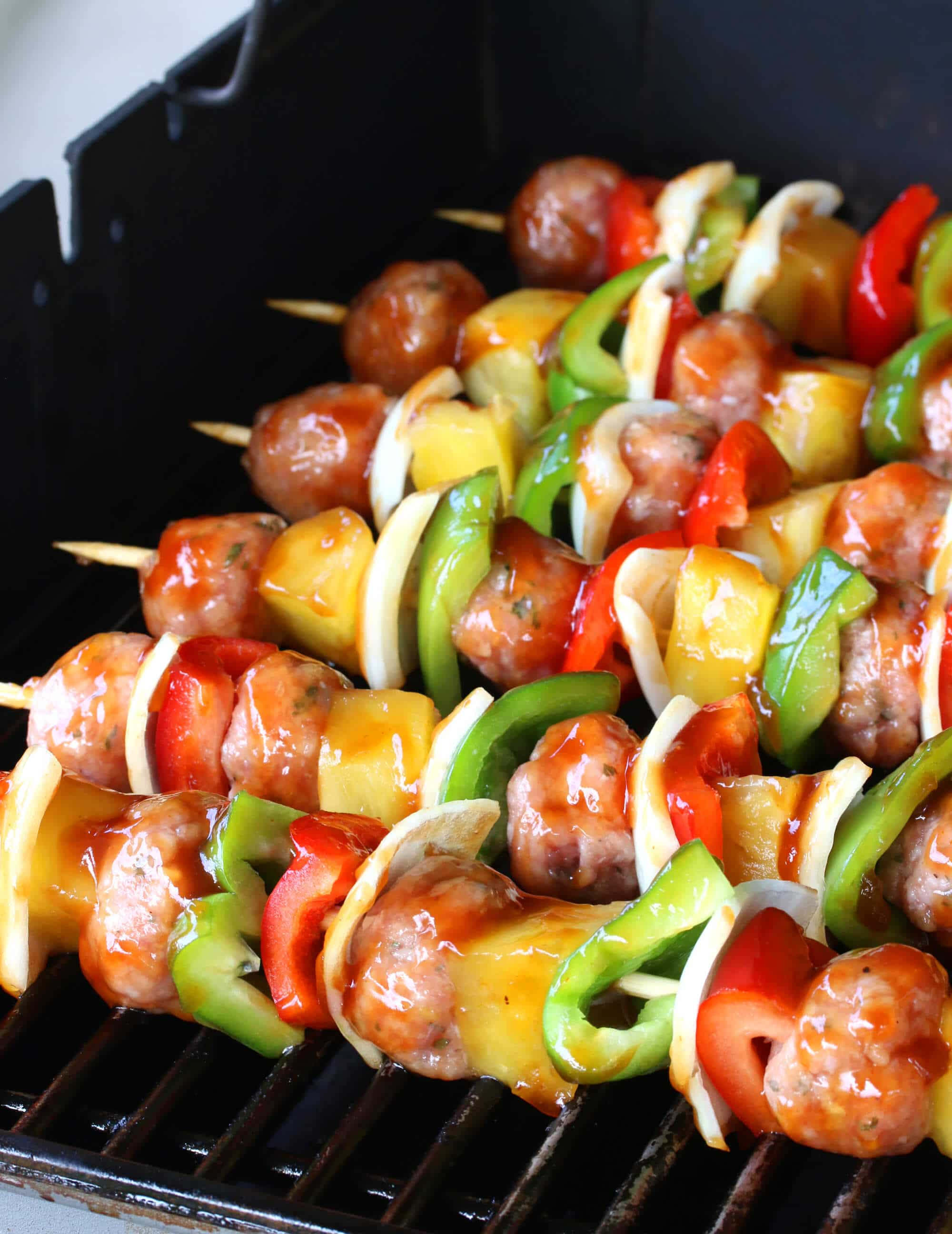 Grilled Sweet Amp Sour Veal Meatball Kabobs The Daring Gourmet