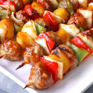 sweet and sour meatball kabobs recipe healthy easy from scratch chicken pork beef turkey veal beef