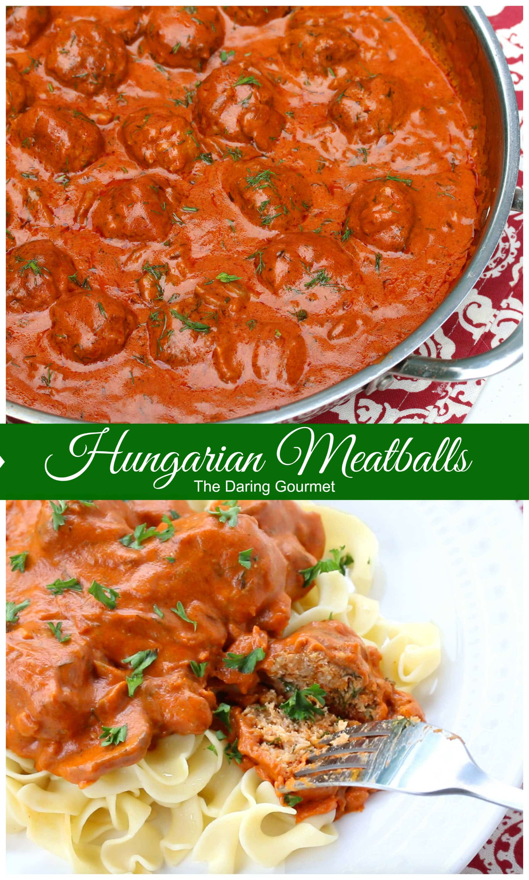 hungarian meatballs recipe paprika creamy sauce dill mushrooms veal beef chicken pork turkey