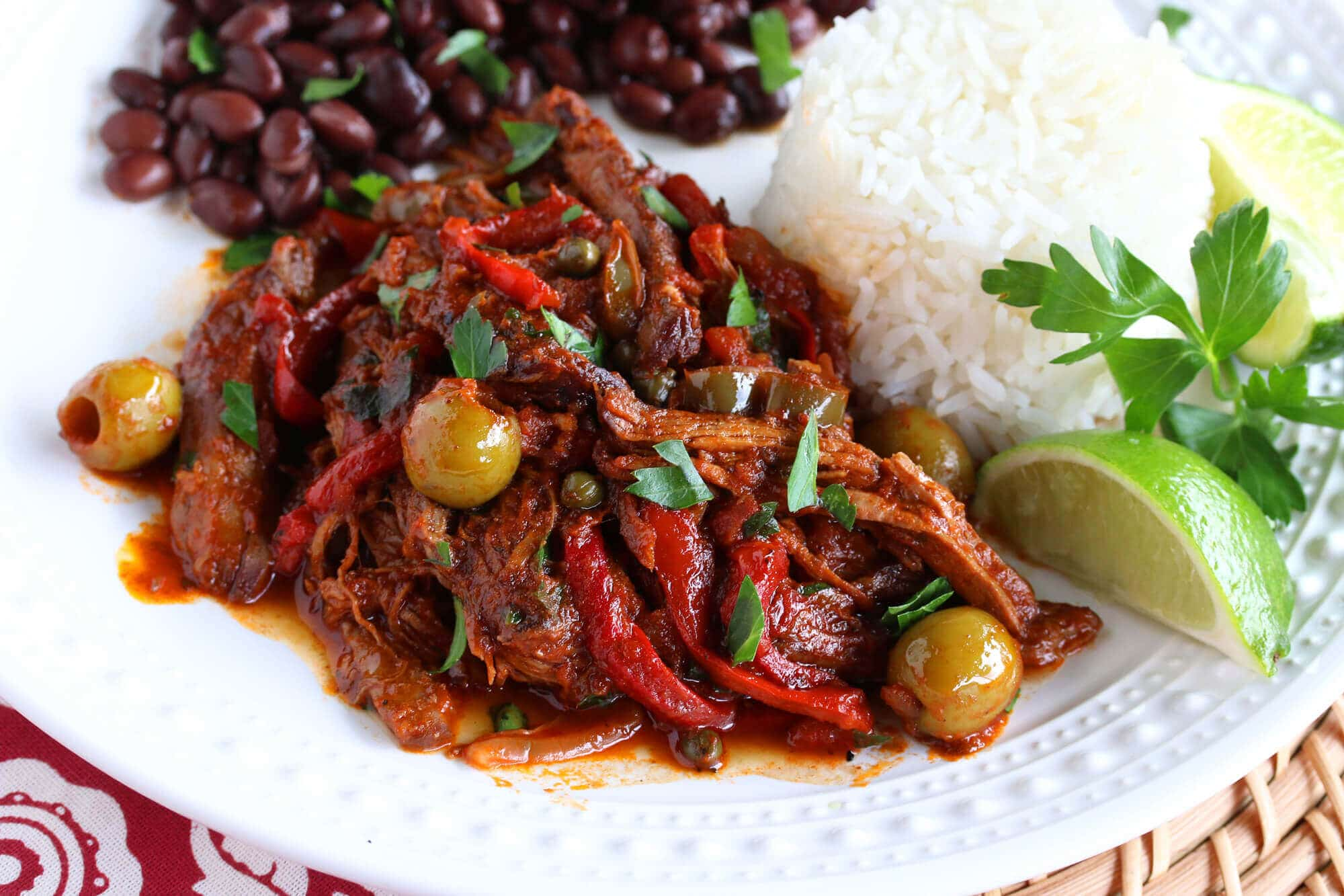 cuban cuba ropa vieja beef stew peppers olives recipe