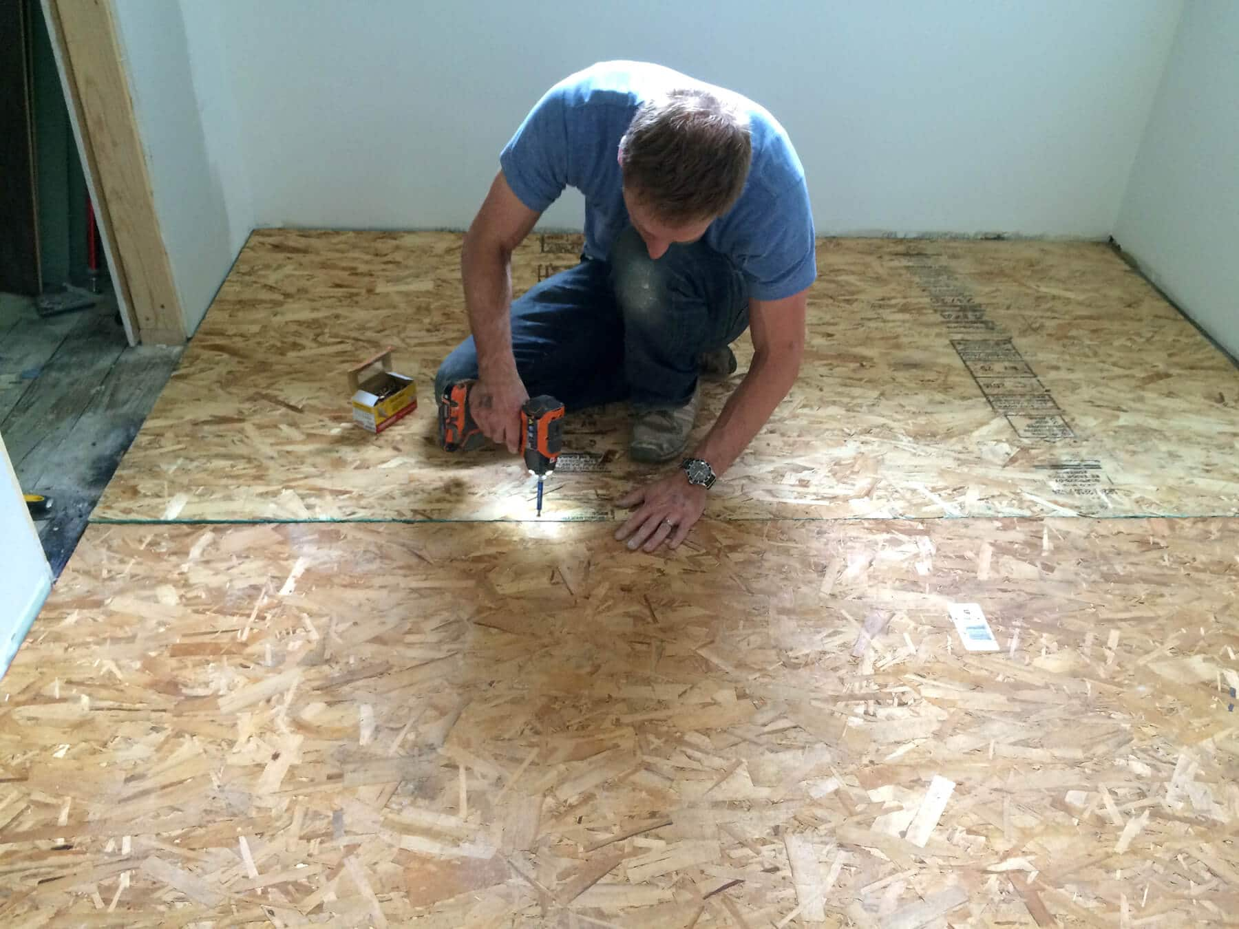 The Micro Dwelling Project Part 5 Flooring Daring Gourmet How To Lay A Hardwood Floor Next It Was Time Down