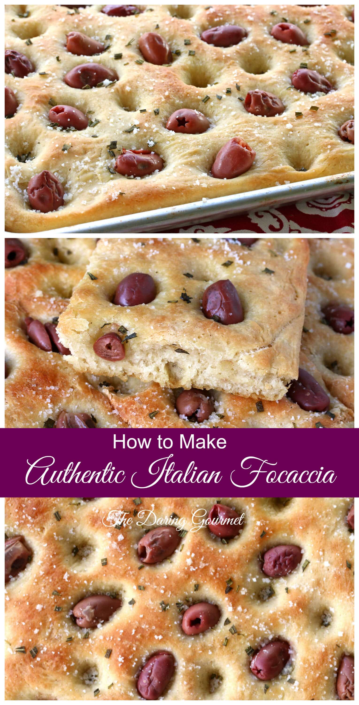 how to make authentic focaccia italian olives rosemary best recipe